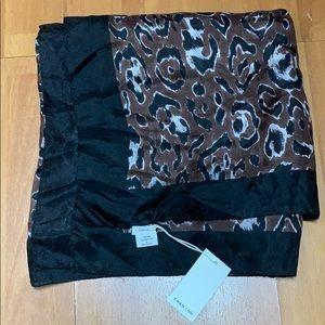Chan Luu Leopard Print Silk Scarf NWT